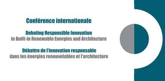 L'innovation responsable dans les EnR et l'architecture