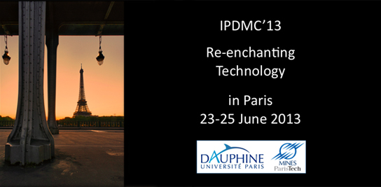 R�-enchanter la technologie - Colloque international