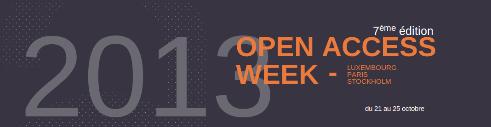 Découvrez le programme de l'Open Access Week 2013