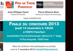 Finale du Prix de thèse ParisTech 2013