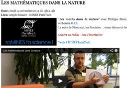 Les mathématiques dans la nature