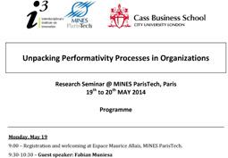 Les processus de performativité dans les organisations