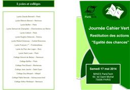 Journée Cahier Vert