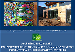 Soutenances des �l�ves du mast�re IGE