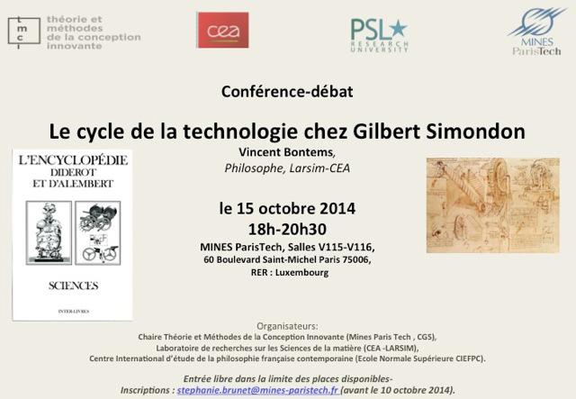 Découvrir Gilbert Simondon avec Vincent Bontems