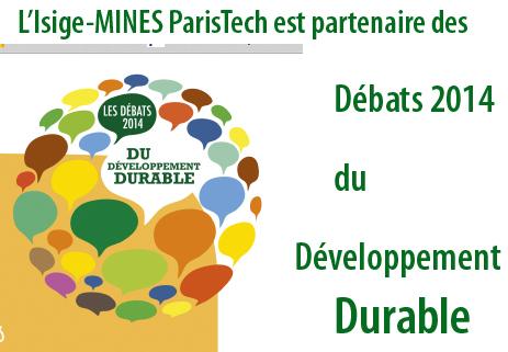 MINES ParisTech partenaire des d�bats du d�veloppement durable 2014