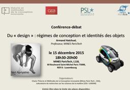 Du « design » : régimes de conception et identités des objets