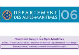 Plan Climat Énergie des Alpes-Maritimes : les travaux du centre O.I.E. à l'honneur