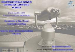 Rencontres doctorales 2016 autour de l'information scientifique et technique