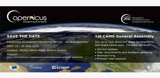 Assemblée Générale Inaugurale du Copernicus Atmosphere Monitoring Service (CAMS)