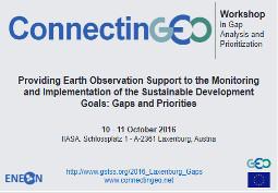 Workshop sur les besoins en Observation de la Terre