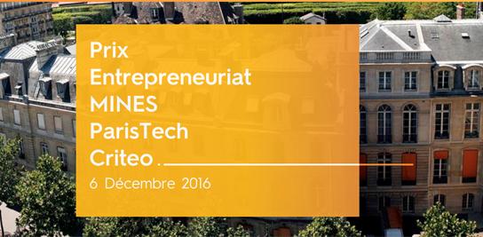 Remise du Prix Entrepreneuriat MINES ParisTech Criteo