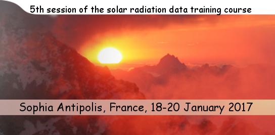 5<sup>e </sup>formation sur le rayonnement solaire