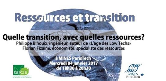 Ressources et transition