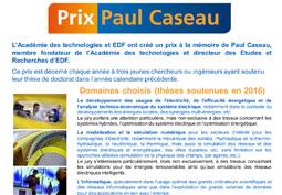 Prix Paul Caseau 2017
