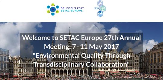 27<sup>e</sup> réunion annuelle de la Société de toxicologie et de chimie environnementales (SETAC) en Europe