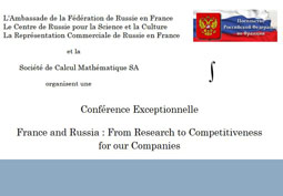 France and Russia : From Research to Competitiveness for our Companies
