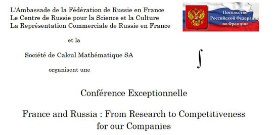 France and Russia : From Research to Competitiveness
