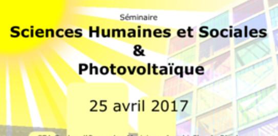 Journée Sciences Humaines et Sociales et Photovoltaïque