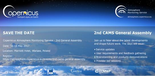 Seconde Assemblée Générale du Copernicus Atmosphere Monitoring Service (CAMS)
