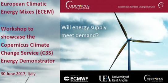 Symposium utilisateurs : les services climatiques Copernicus pour l'énergie