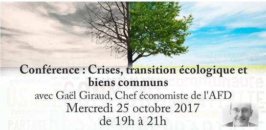 Crises, transition écologique et biens communs