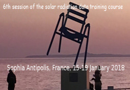 6<sup>e</sup> formation sur le rayonnement solaire (Training in solar radiation)