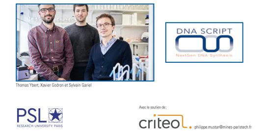Rencontre avec Sylvain Gariel (P07) et Xavier Godron (P11), co-fondateurs de DNA Script