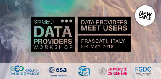 3<sup>rd</sup> GEO data Providers Worshop: Data Providers meet Users