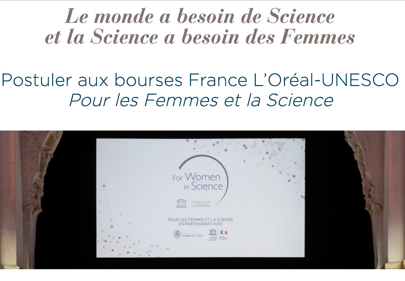 Bourses France L'Oréal-UNESCO