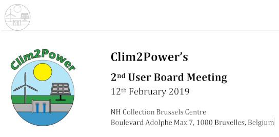 CLIM2POWER : Deuxième réunion des utilisateurs