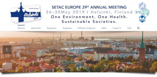 29ème réunion annuelle de la Société Européenne de Toxicologie et de Chimie Environnementale (SETAC)