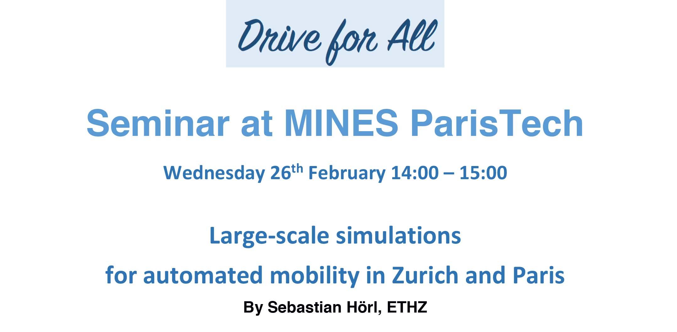 Simulations à grande échelle pour le transport automatisé, à Zurich et à Paris