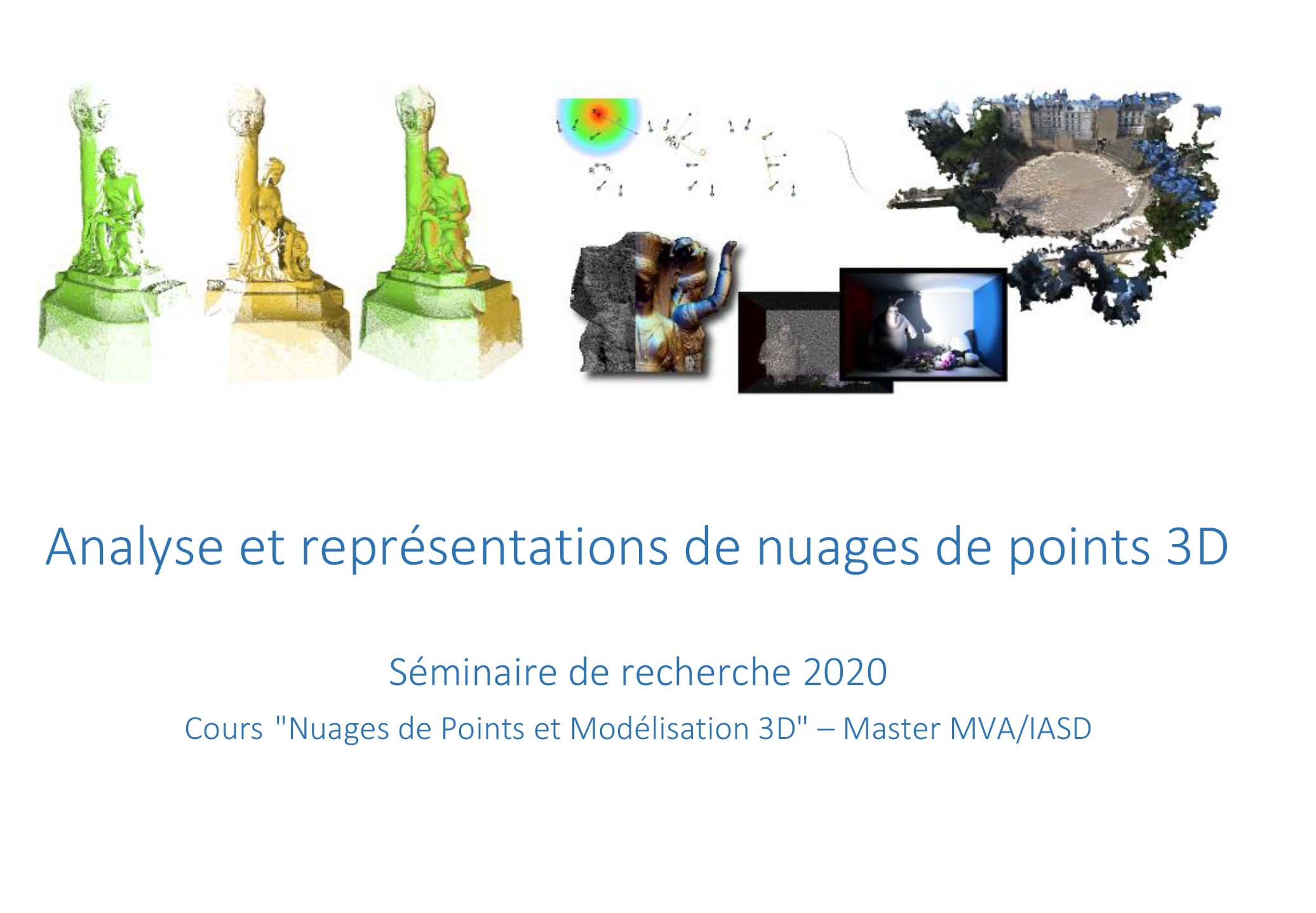 Analyses & représentations de nuages de points 3D