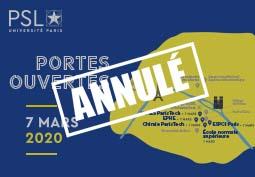 ANNULATION Journée Portes ouvertes 2020