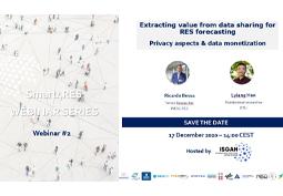 Webinar #2 Smart4RES: Science de données et énergies renouvelables