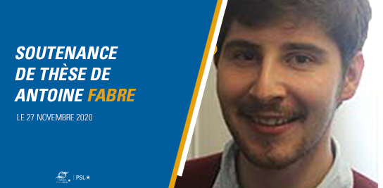 Soutenance de thèse de Antoine FABRE
