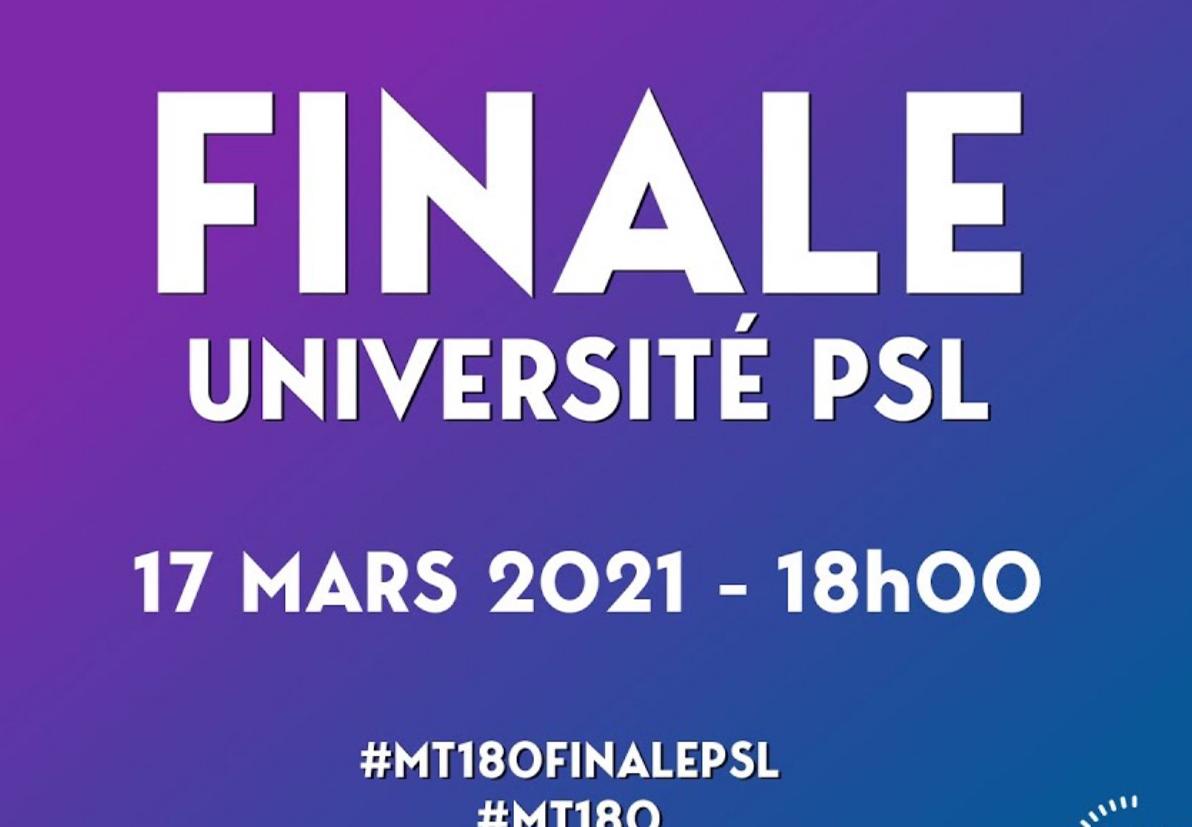 La finale PSL du concours « Ma thèse en 180 secondes »